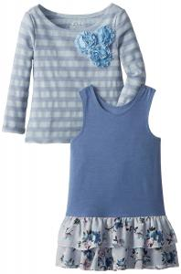 Váy Pippa & Julie Little Girls'Striped Tunic and Dress Set
