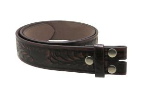Dây lưng Leather Belt Strap with Embossed Western Scrollwork 1.5