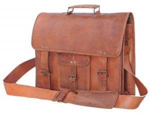 Túi Passion Leather 16 Inch Vintage Look Leather Laptop Messenger Briefcase Satchel Bag