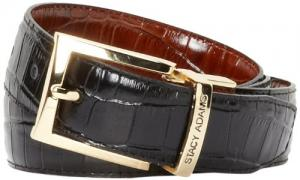 Dây lưng Stacy Adams Men's 30mm Croco Embossed Genuine Leather With Twist Reversible Belt