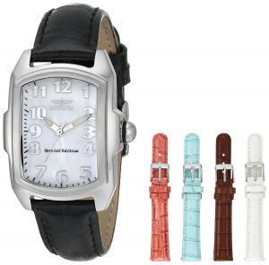 Đồng hồ Invicta Women's 5168 Baby Lupah Collection Mother-of-Pearl Dial Shiny Leather Interchangeable Watch Set