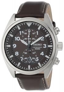 Đồng hồ Seiko Men's SNN241 Stainless Steel Watch with Leather Band