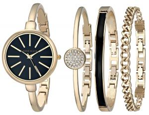 Đồng hồ Anne Klein Women's AK/1470GBST Gold-Tone Watch and Bracelet Set