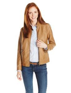 Áo khoác BB Dakota Women's Alma Faux Leather Scuba Jacket