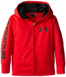 Áo khoác Under Armour Little Boys' AF Storm Mag Zip Hoody Red