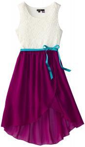 Váy ZUNIE Big Girls' Lace and Chiffon Dress with Tulip Skirt