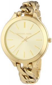 Đồng hồ Michael Kors Slim Runway Champagne Dial Gold-tone Ladies Watch MK3222