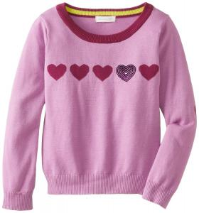 Áo Pumpkin Patch Big Girls' Heart Sequined Sweater