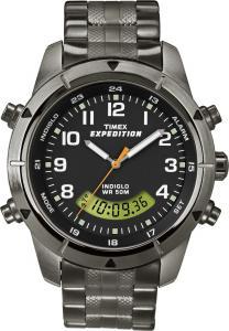 Đồng hồ Timex Men's T49826 Expedition Rugged Chronograph Analog-Digital Black Dial Bracelet Watch
