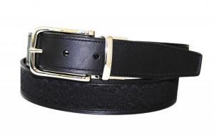 Dây lưng Coach Mens Reversible Signature and Leather Belt Khaki/Mahogany