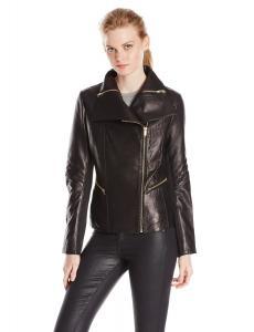 Áo khoác Via Spiga Women's Asymmetrical Leather Moto Jacket