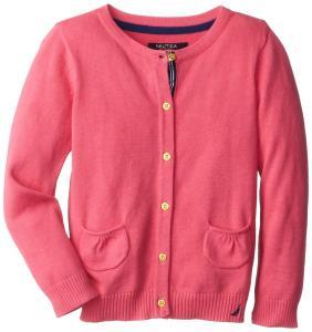 Áo khoác Nautica Little Girls' 12 GG Jersey Sweater with Pockets