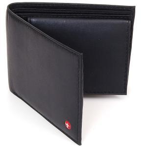 Ví Alpine Swiss Men's Leather Bifold Wallet Removable Flip Up ID Window