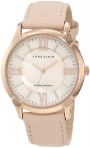 Đồng hồ Anne Klein Women's AK/1010RGLP Rose Gold-Tone Watch with Swarovski Crystals and Leather Band