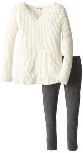 Quần áo Splendid Little Girls' Waffle Thermal Knit Set