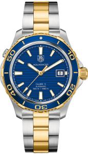 Đồng hồ Tag Heuer Aquaracer Blue Dial Yellow Gold Plated and Steel Mens Watch WAK2120.BB0835