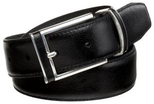Alexander Julian Men's Leather Inlay Buckle And Loop Belt