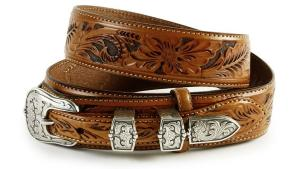 Dây lưng Tony Lama Men's Tooled Leather Ranger Belt