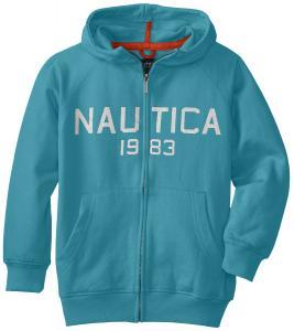 Áo khoác Nautica Big Boys' Fleece Front-Zip Contrast Hoody Sweatshirt