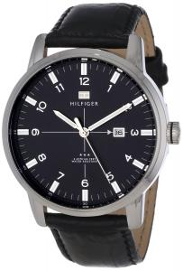 Đồng hồ Tommy Hilfiger Men's 1710330 Stainless Steel and Black Leather Watch