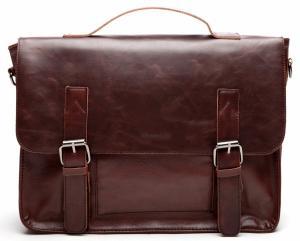 Cặp Good&god Vintage Pu Leather Briefcase Shoulder Business Laptop Messenger Bags Tote