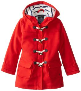 Áo khoác Nautica Little Girls'  Faux Wool Swing Coat with Toggles