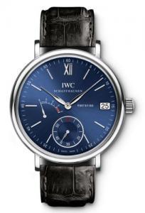 Đồng hồ IWC Portofino Blue Dial Black Leather Mens Watch IW510106