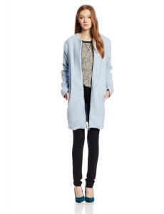 Áo khoác BB Dakota Women's Liezel Collarless Brushed-Wool Zip-Front Coat