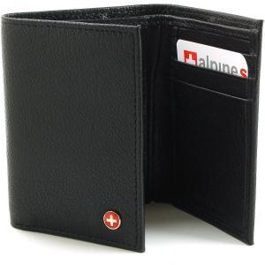 Ví Alpine Swiss Men's Genuine Leather Trifold Wallet