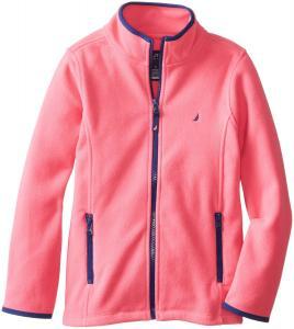 Áo khoác Nautica Big Girls'  Polar Fleece Front Zip Jacket