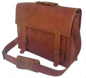 Túi Passion leather 18 inch Handmade Leather Briefcase/leather Messenger Bag/laptop Bag