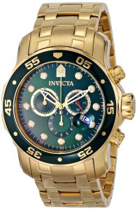 Đồng hồ Invicta Men's 0075 Pro Diver Chronograph 18k Gold-Plated Watch