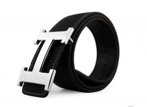 Dây lưng CAFA Men's Alloy Leather Belt Smooth Buckle Black Medium