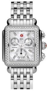 Đồng hồ MICHELE Women's MWW06P000099 Deco Analog Display Swiss Quartz Silver Watch