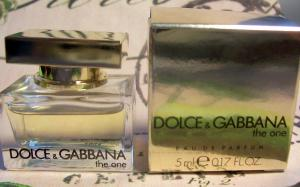 Nước hoa D & G The One FOR WOMEN by Dolce & Gabbana - 0.17 oz EDP Mini