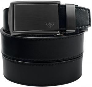 Dây lưng SlideBelts Men's Winged Gunmetal Leather Ratchet Belt - Custom Fit
