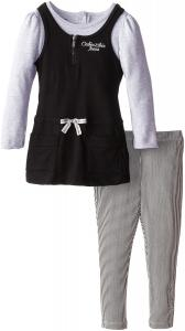 Quần áo Calvin Klein Little Girls' Jersey Mock Twofer Tunic Set