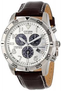 Đồng hồ Citizen Men's BL5470-06A Stainless Steel Eco-Drive Watch with Leather Band