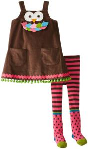 Quần áo Mud Pie Little Girls'Owl Jumper with Tights