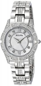Đồng hồ Bulova Women's 96L116 Stainless Steel and Mother-of-Pearl Swarovski Crystal-Accented Watch