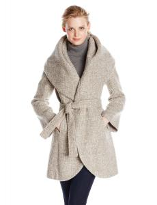 Áo khoác T Tahari Women's Marla Wool Wrap Coat Tweed