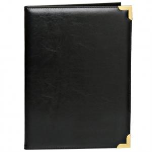 Deluxe Black Padfolio with Gold Accents By BAGS FOR LESSTM