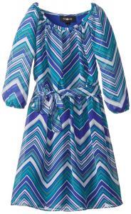 Váy Amy Byer Big Girls' Raglan Sleeve Printed Dress