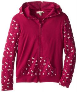 Áo khoác Speechless Big Girls' Hoodie with Printed Sleeves and Pocket