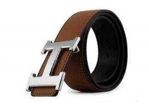 Dây lưng CAFA Men's Alloy Leather Belt Smooth Buckle Yellow Medium