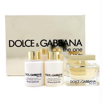 Nước hoa Dolce & Gabbana The One Gift Set 3Pcs. [2.5 oz. Eau De Parfum Spray+3.3Oz. B.L.+3.3Oz. Gel] Women