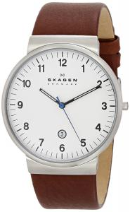 Đồng hồ Skagen Men's SKW6082 Ancher Quartz 3 Hand Date Stainless Steel Dark Brown Watch