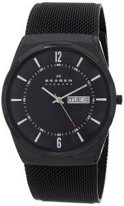 Đồng hồ Skagen Men's SKW6006 Melbye Quartz 3 Hand Date Titanium Black Watch