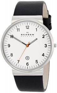 Đồng hồ Klassik Three-Hand Date Leather Watch - Black,Unisex adult