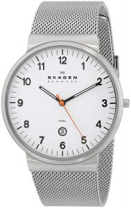 Đồng hồ SKAGEN Klassik Mens Three-Hand Date Stainless Steel Watch
